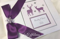 Stag & Roe Deer Winter Guest Book