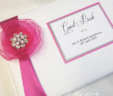 """Amara"" Fabric Flower Guest Book"