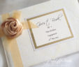 Satin Rose & Organza Guest Book