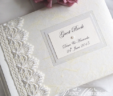 Guipure Lace & Pearl Guest Book