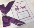 Stag & Roe Deer Winter Guest Book