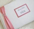 Heart Diamante Guest Book
