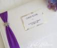Flower Star Diamante Guest Book
